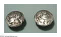 Silver Smalls:Other , A PAIR OF HOMERIC MEDALLION CUFF LINKS