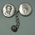 Silver Smalls:Other , AN AMERICAN SILVER HOMERIC CAPE CLASP