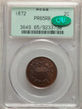 1872 2C PR65 Red and Brown PCGS. CAC. PCGS Population: (139/43). NGC Census: (72/42). CDN: $1,500 Whsle. Bid for NGC/PCG...