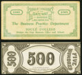Obsoletes By State:Mixed States, (New Orleans, LA)- Soule' College $100 ND (ca.1920s) Schingoethe LA-100-100 Very Fine-Extremely Fine;. Unknown Locatio... (Total: 2 notes)