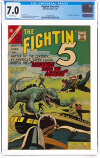 The Fightin' 5 #41 (Charlton, 1967) CGC FN/VF 7.0 Off-white pages