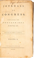 Books:Americana & American History, [Continental Congress]. Journals of Congress, Containing the Proceedings... Complete set of thirteen volumes. 17... (Total: 13 Items)