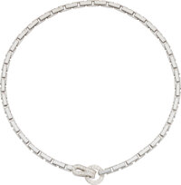Cartier Diamond, White Gold Necklace, French