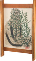 Prints & Multiples, George Nakashima (American, 1905-1990). Frame, circa 1970. Walnut, lithograph on Arches wove paper. 36 x 22 x 3-3/4 inch...