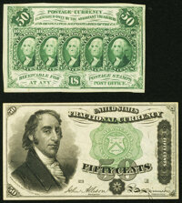 Fr. 1312 50¢ First Issue Very Fine; Fr. 1379 50¢ Fourth Issue Dexter Very Fine-Extremely Fine. ... (Total: 2 n...