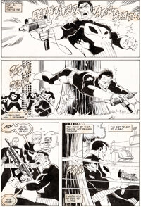 Mike Zeck and John Beatty The Punisher (Limited Series) #4 Story Page 16 Original Art (Marvel, 1986)