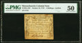 Colonial Notes:Massachusetts, Massachusetts October 18, 1776 4s PMG About Uncirculated 50.. ...