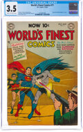 Golden Age (1938-1955):Superhero, World's Finest Comics #71 (DC, 1954) CGC VG- 3.5 Cream to off-white pages....