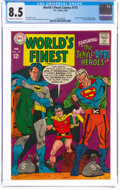 Silver Age (1956-1969):Superhero, World's Finest Comics #173 (DC, 1968) CGC VF+ 8.5 Off-white to white pages....