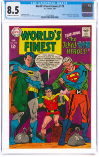 World's Finest Comics #173 (DC, 1968) CGC VF+ 8.5 Off-white to white pages