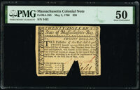 Massachusetts May 5, 1780 $20 PMG About Uncirculated 50