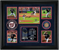 Autographs:Photos, Max Scherzer Signed World Series Display - With Game Used Dirt!...