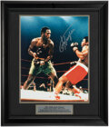 Boxing Collectibles:Autographs, Joe Frazier Signed Oversized Photograph. ...