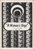 """Movie Posters:Adult, A Woman's Urge & Other Lot (Caprice, 1969). Folded, Overall: Fine+. One Sheets (2) (27"""" X 41""""). Adult.. ... (Total: 2 Items)"""