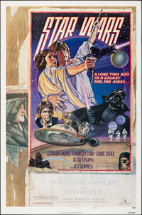 """Star Wars (20th Century Fox, 1978). Rolled, Very Fine. One Sheet (27.25"""" X 41"""") NSS Style D, Drew Struzan and..."""