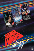 Movie Posters:Science Fiction, The Star Wars Trilogy (CBS Fox Video, 1988). Rolled, Very ...