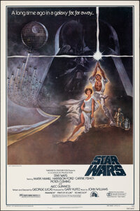 """Star Wars (20th Century Fox, 1977). Rolled, Very Fine-. Third Printing One Sheet (27"""" X 41"""") NSS Style A, Tom..."""