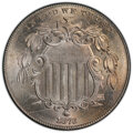 1873 5C Closed 3 MS65 PCGS. PCGS Population: (20/6 and 8/2+). NGC Census: (0/0 and 0/0+). CDN: $1,850 Whsle. Bid for NGC...