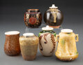 Ceramics & Porcelain, A Group of Six Japanese Tea Caddies, 20th century . 3-1/2 inches (8.9 cm) (tallest). ... (Total: 6 Items)
