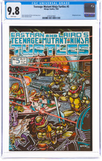 Teenage Mutant Ninja Turtles #5 (Mirage Studios, 1985) CGC NM/MT 9.8 White pages