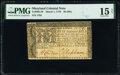 Colonial Notes:Maryland, Maryland March 1, 1770 $8 PMG Choice Fine 15 Net.. ...
