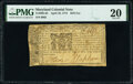 Colonial Notes:Maryland, Maryland April 10, 1774 $2/9 PMG Very Fine 20.. ...