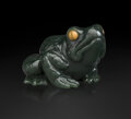 Decorative Accessories, A Carved Hardstone Frog in the Manner of Fabergé, late 20th century. 1-1/2 x 2-1/4 x 2-1/2 inches (3.8 x 5.7 x 6.4 cm). 4.3 ...