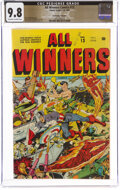 Golden Age (1938-1955):Superhero, All Winners Comics #13 The Promise Collection Pedigree (Timely, 1944) CGC NM/MT 9.8 Off-white to white pages....