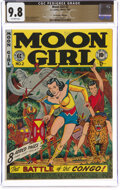Golden Age (1938-1955):Adventure, Moon Girl #2 The Promise Collection Pedigree (EC, 1947) CGC NM/MT 9.8 Off-white pages....
