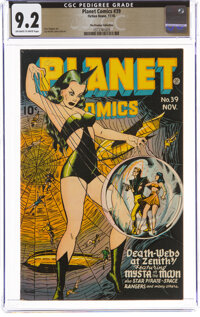 Planet Comics #39 The Promise Collection Pedigree (Fiction House, 1945) CGC NM- 9.2 Off-white to white pages