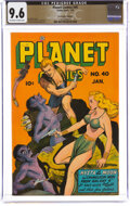 Golden Age (1938-1955):Science Fiction, Planet Comics #40 The Promise Collection Pedigree (Fiction House, 1946) CGC NM+ 9.6 Off-white to white pages....