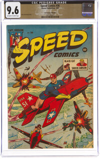 Speed Comics #36 The Promise Collection Pedigree (Harvey, 1945) CGC NM+ 9.6 Off-white to white pages