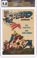 Golden Age (1938-1955):Superhero, Speed Comics #38 The Promise Collection Pedigree (Harvey, 1945) CGC NM/MT 9.8 Off-white to white pages....