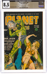 Planet Comics #36 The Promise Collection Pedigree (Fiction House, 1945) CGC VF+ 8.5 Off-white pages