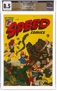 Speed Comics #37 The Promise Collection Pedigree (Harvey, 1945) CGC VF+ 8.5 Off-white to white pages