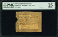 Colonial Notes:Maryland, Maryland December 7, 1775 $1/9 PMG Choice Fine 15.. ...