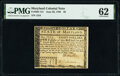 Colonial Notes:Maryland, Maryland June 28, 1780 $8 PMG Uncirculated 62.. ...