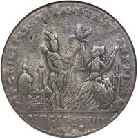 """""""1783"""" Continental Dollar Peace Medal Fine 15 NGC. Crosby Page 370, Betts-614, High R.6"""