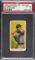 Baseball Cards:Singles (Pre-1930), 1909-11 T206 Sweet Caporal 350-460/42OP Ed Abbaticchio (Blue Sleeves) PSA VG-EX 4 - Pop Three, One Higher with Factory Overpr...