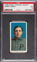 Baseball Cards:Singles (Pre-1930), 1909-11 T206 Sweet Caporal 350/30 Harry Arndt PSA EX 5 - Pop Two, None Higher for Brand/Series/Factory. ...