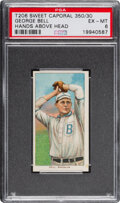 Baseball Cards:Singles (Pre-1930), 1909-11 T206 Sweet Caporal 350/30 George Bell (Hands Above Head) PSA EX-MT 6 - Pop One, Only One Higher for Brand/Series/Fact...