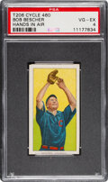 Baseball Cards:Singles (Pre-1930), 1909-11 T206 Cycle 460 Bob Bescher (Hands In Air) PSA VG-EX 4 - Pop Three, None Higher for Brand. ...