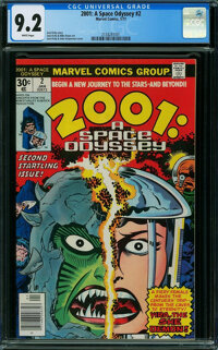 2001: A Space Odyssey #2 (Marvel, 1977) CGC NM- 9.2 WHITE pages