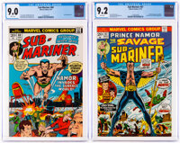 The Sub-Mariner #60 and 67 CGC-Graded Group (Marvel, 1973).... (Total: 2 )