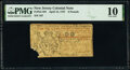 Colonial Notes:New Jersey, New Jersey April 12, 1757 £6 PMG Very Good 10.. ...