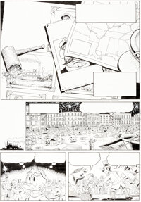 Don Rosa The Life and Times of Scrooge McDuck - Uncle Scrooge #286 Story Page 1 Original Art (Gladstone, 1994).... (Tota...