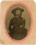 Photography:Tintypes, George Armstrong Custer Tintype from a Carte de Visite....