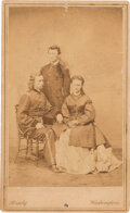 Photography:CDVs, George Armstrong Custer: A Classic Brady Carte-de-Visite of George & Libbie Custer with Brother Tom....