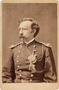 George Armstrong. Custer: Cabinet Card Presented by Libby Custer