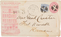 George Armstrong Custer: A Hand-Addressed Cover to Mrs. Custer